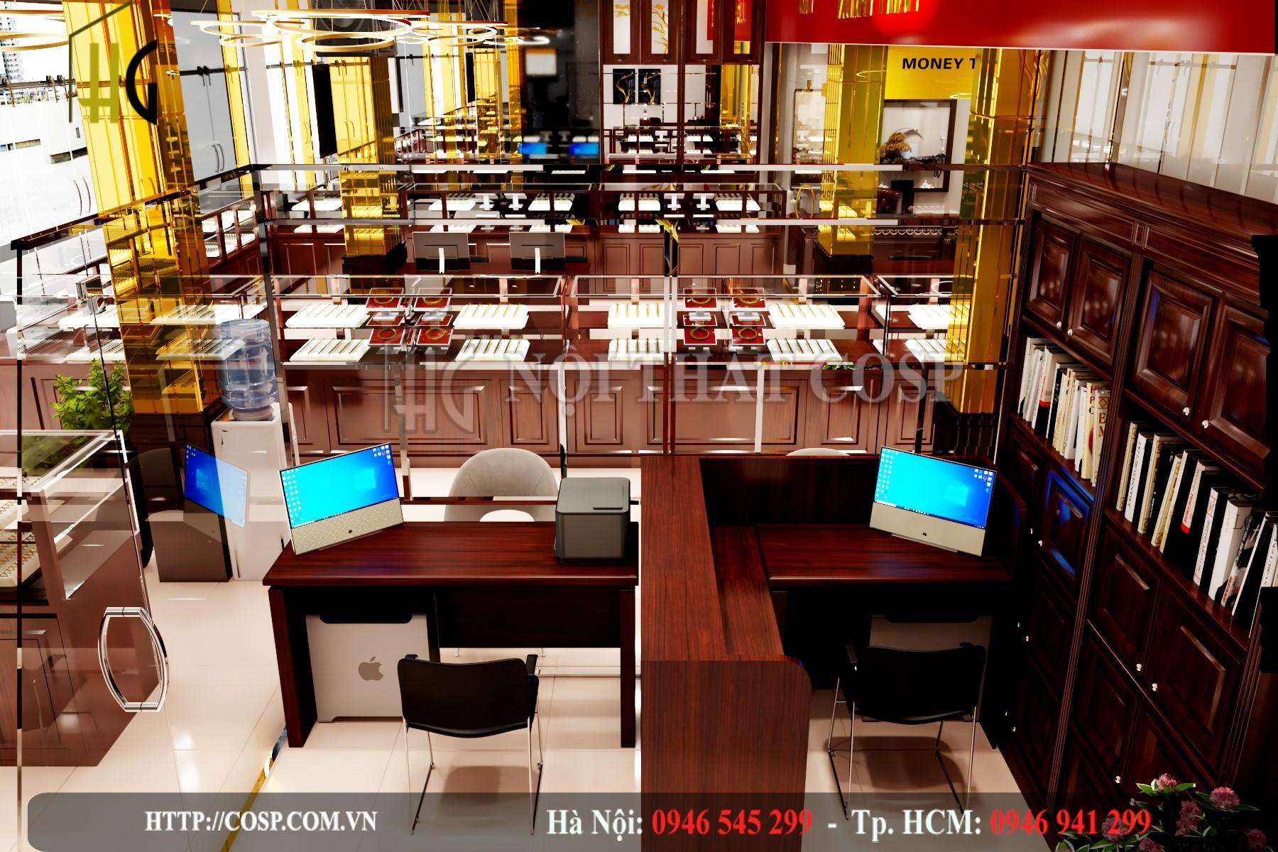 Thiết kế tiệm vàng Kim Tín - Bạc Liêu