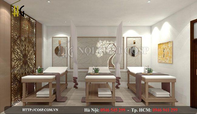 Thiết kế nội thất spa với phong cách hiện đại