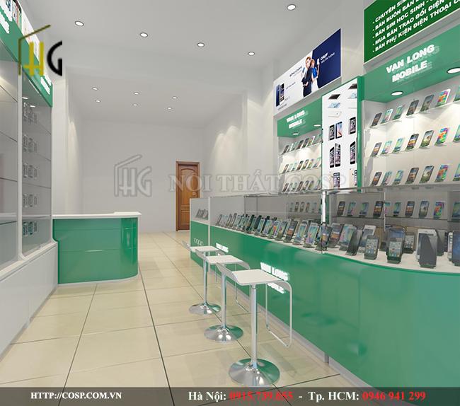 Thiết kế nội thất shop điện thoại thể hiện sự chuyên nghiệp