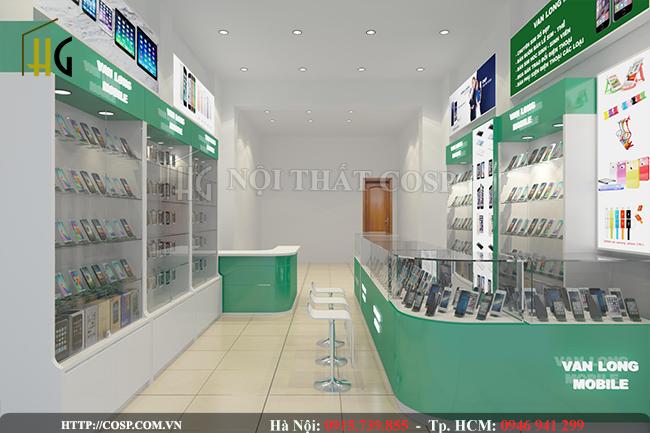 Mẫu cửa hàng điện thoại 25m2