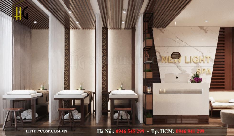 Thiết kế dự án Spa New Light - Chị Lan - Hà Nội