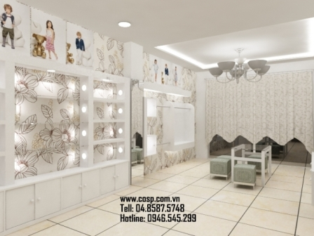 Thiết kế cửa hàng thời trang trẻ em Tuyết Chi