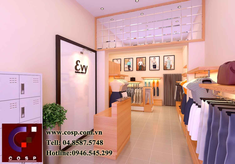 Thiết kế nội thất cửa hàng thời trang Evy