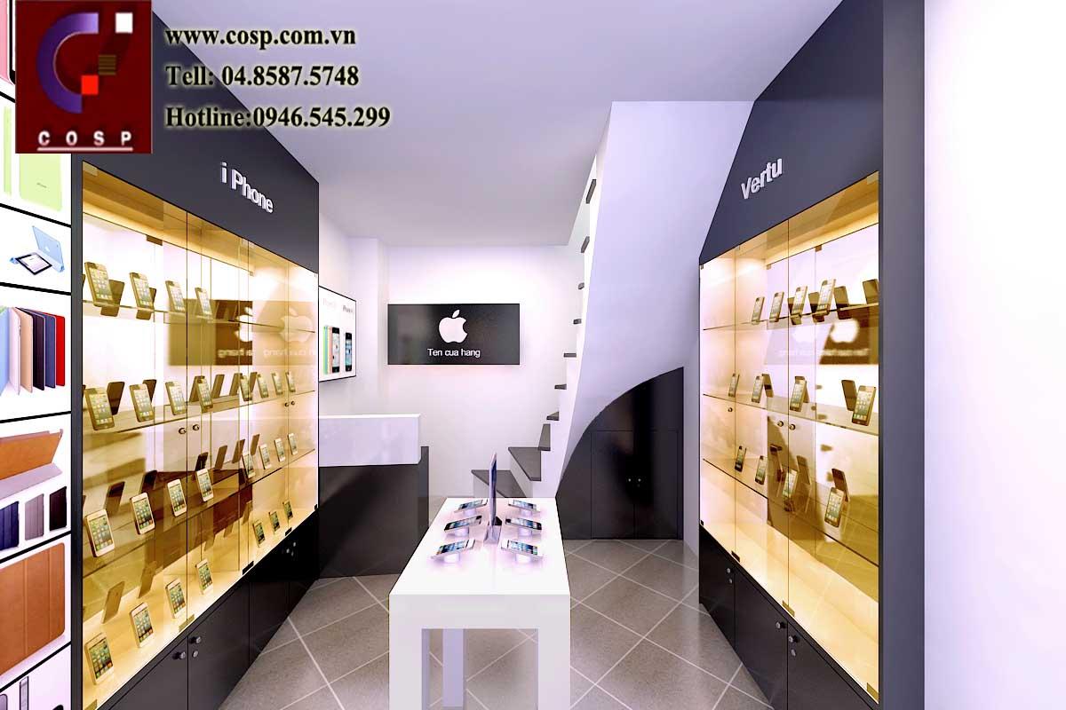 Thiết kế cửa hàng điện thoại nhỏ 10m2