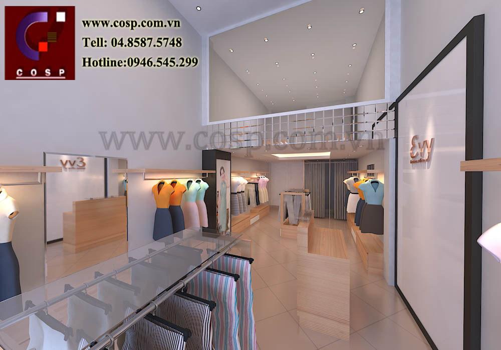 Thiết kế 3d chuỗi cửa hàng Evy- 77 Nguyễn Phong Sắc
