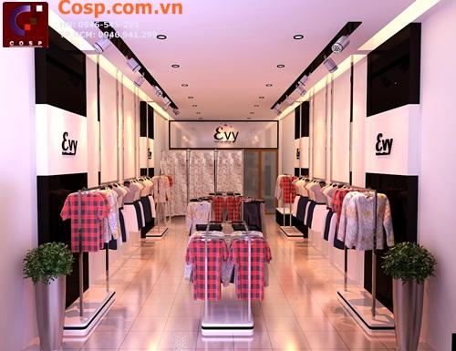 Bố trí không gian khoa học trong thiết kế cửa hàng thời trang Evy