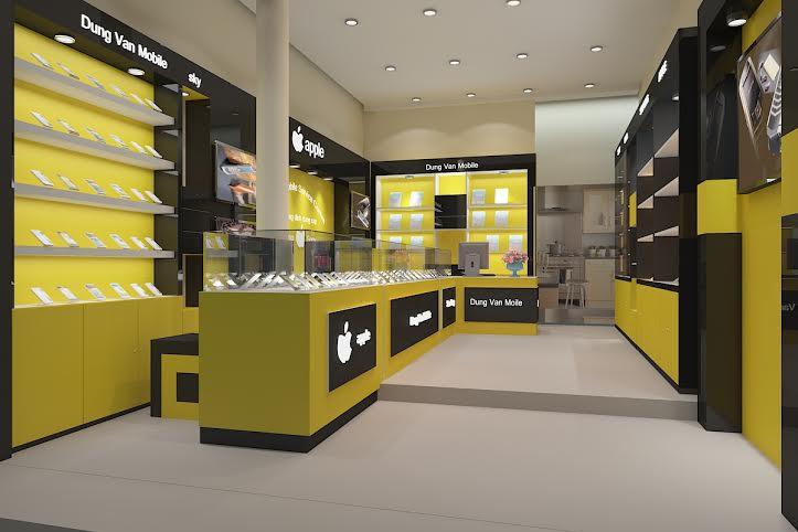 Thiết kế cửa hàng điện thoại 25m2