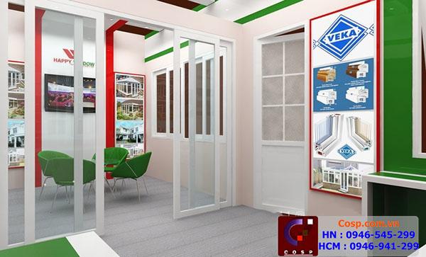 Thiết kế gian hàng hội chợ cho công ty cửa nhựa