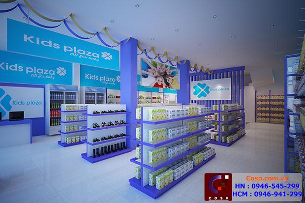 Thiết Kế Và Thi Công Cửa Hàng Kids Plaza - Tân Mai