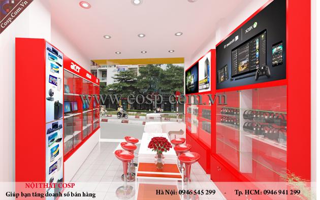 Mẫu thiết kế shop điện thoại 25m2