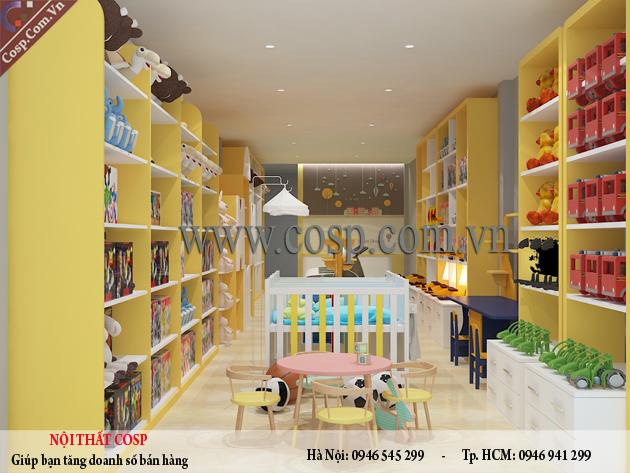 Thiết kế cửa hàng mẹ và bé chị Trang