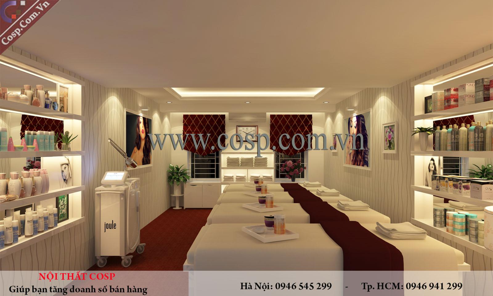 thiết kế nội thất phòng massage tại Quảng Ninh