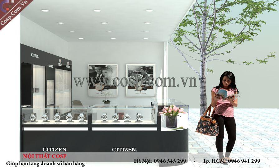 Thiết kế cửa hàng đồng hồ ở Quy Nhơn – Bình Định