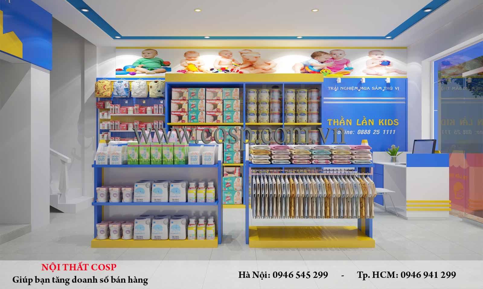 Thiết kế siêu thị mini mẹ và bé chị Thúy - Thanh Hóa