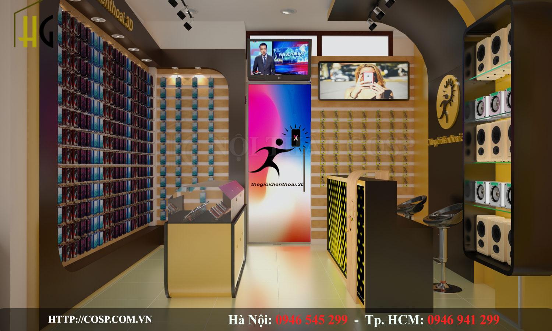 Thiết kế Shop điện thoại Anh Nhất - Bắc Giang