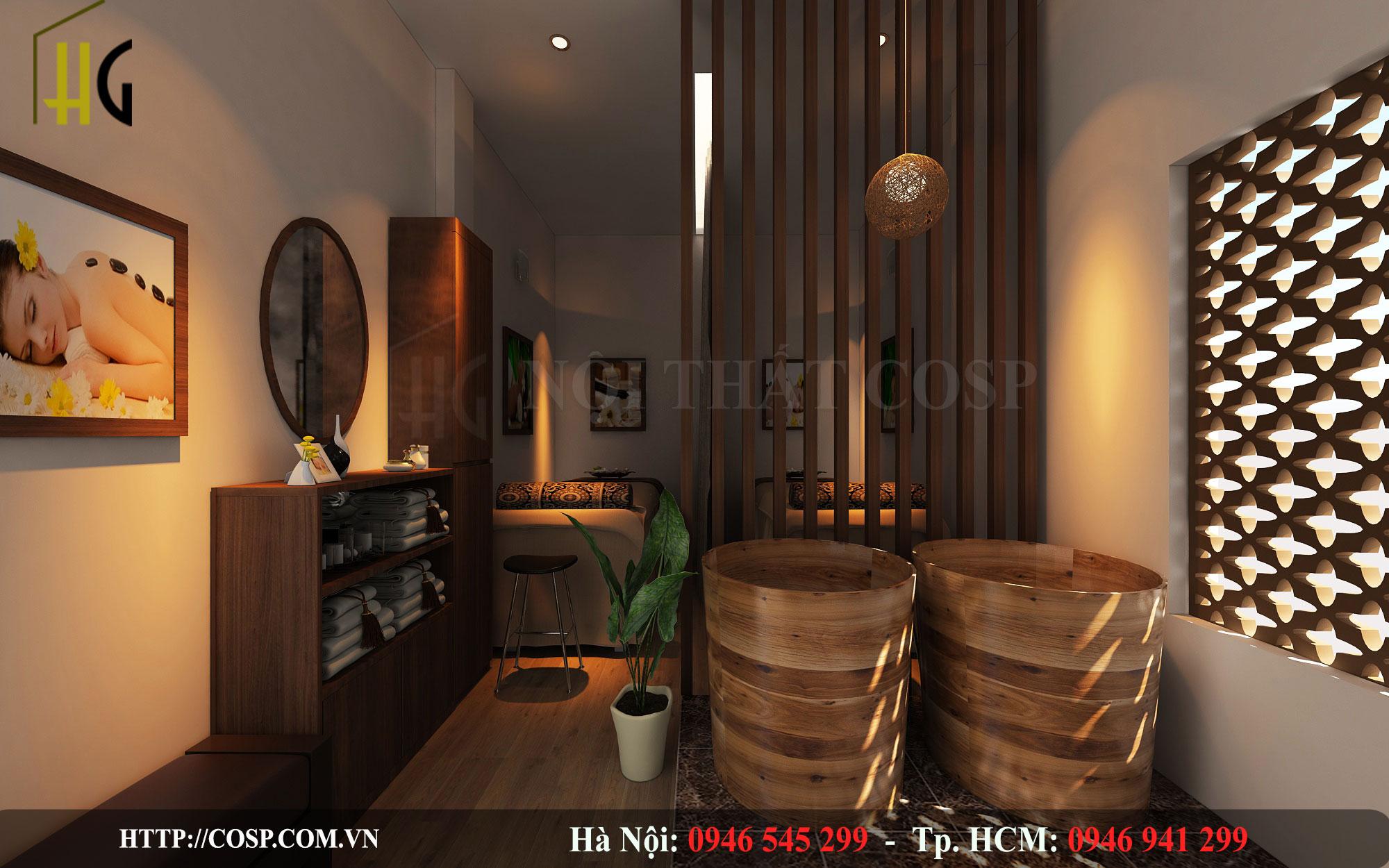 Thiết kế phòng massage Cô Bếch- uông Bí, Quảng Ninh