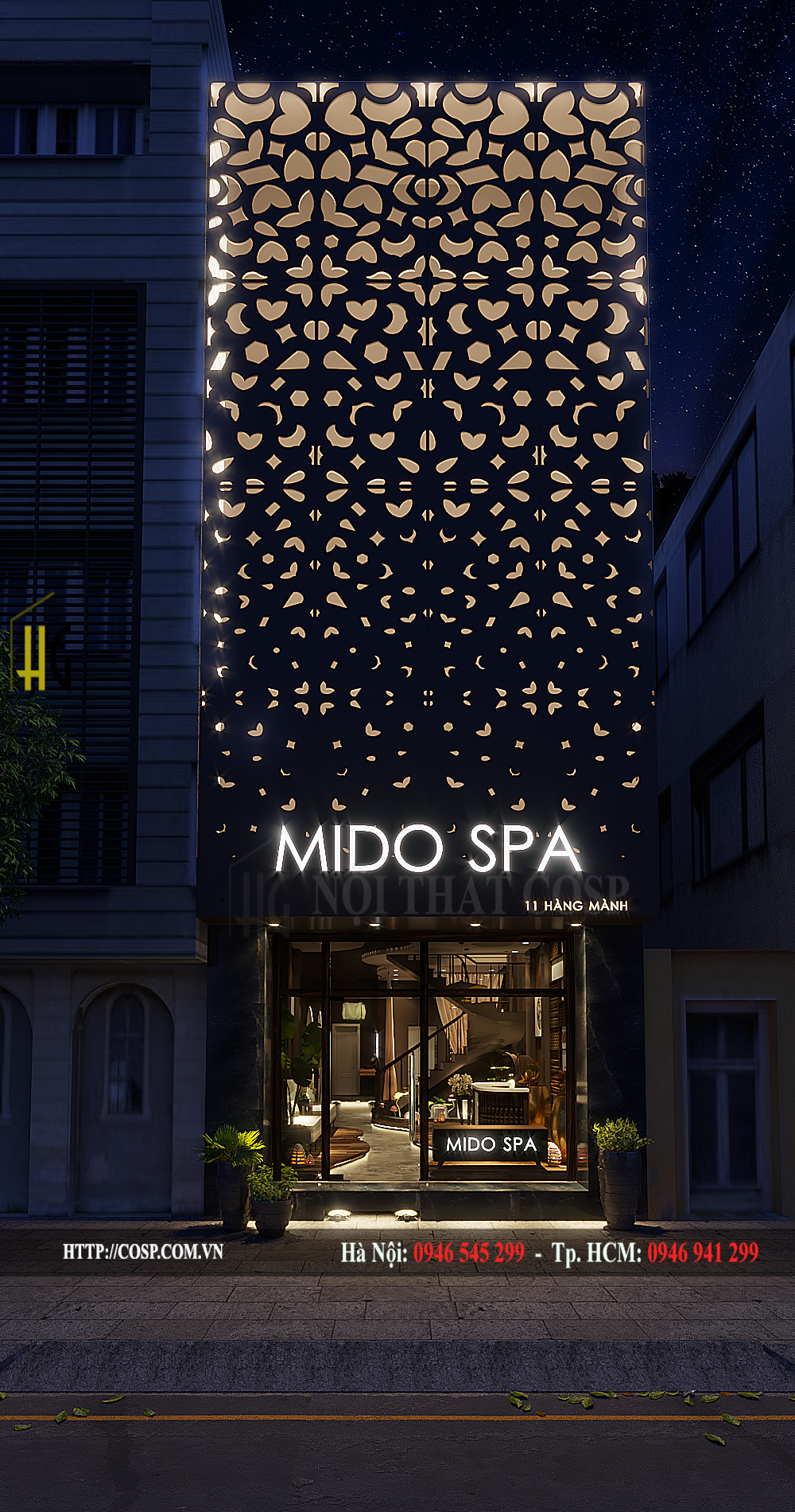 thiet ke noi that spa mido spa 2