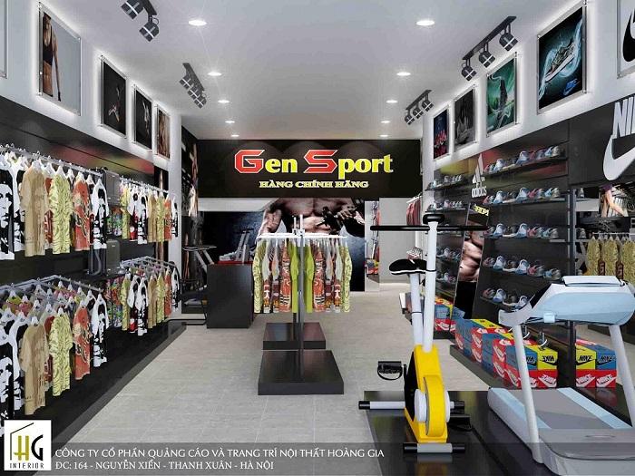 Thiết kế shop thể thao Gen Sport