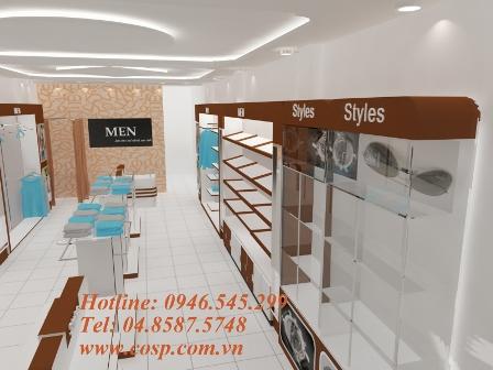 Thiết kế cửa hàng thời trang nam Men