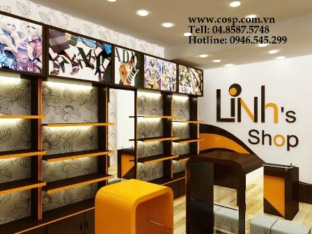 Thiết kế cửa hàng phụ kiện thời trang Linh's shop