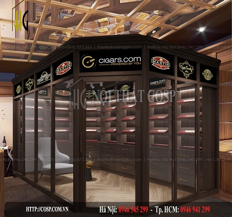 Thiết kế nội thất shop cigar- anh Minh