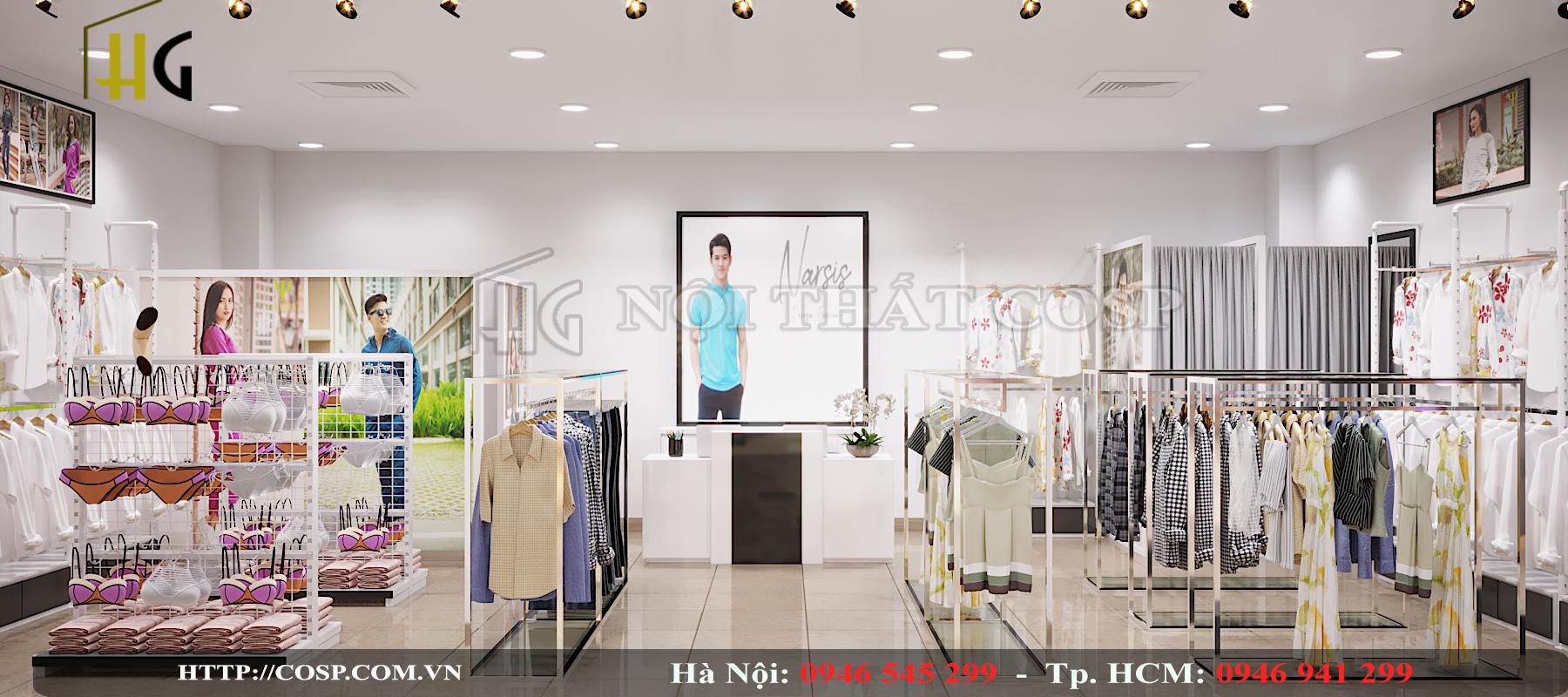 nội thất shop thời trang narsis
