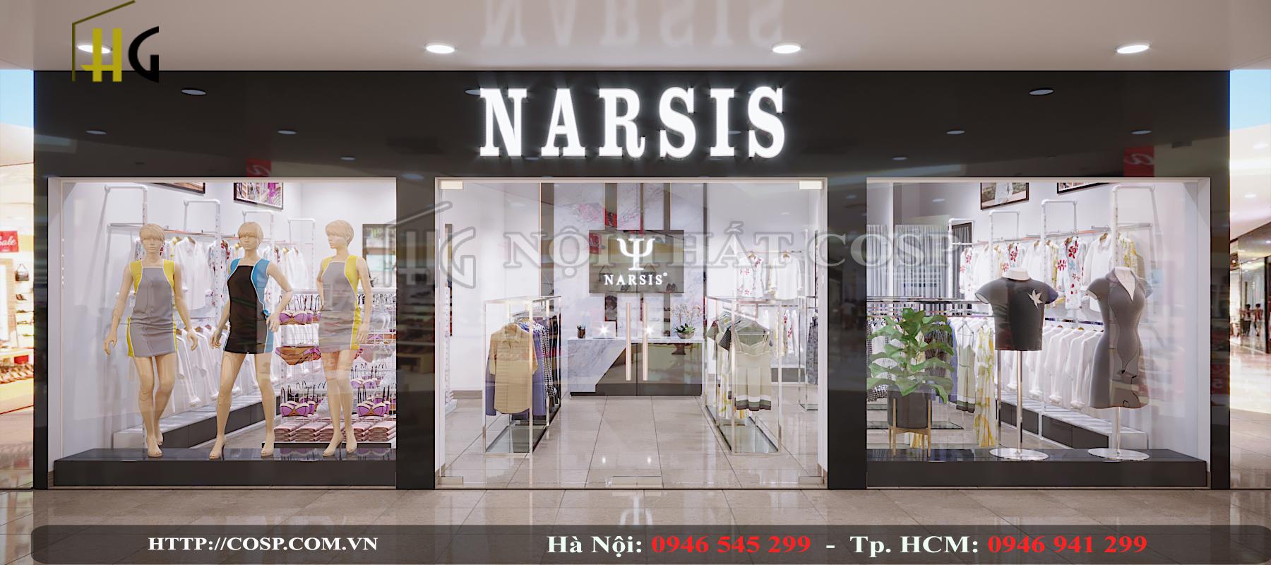 thiết kế shop thời trang narsis