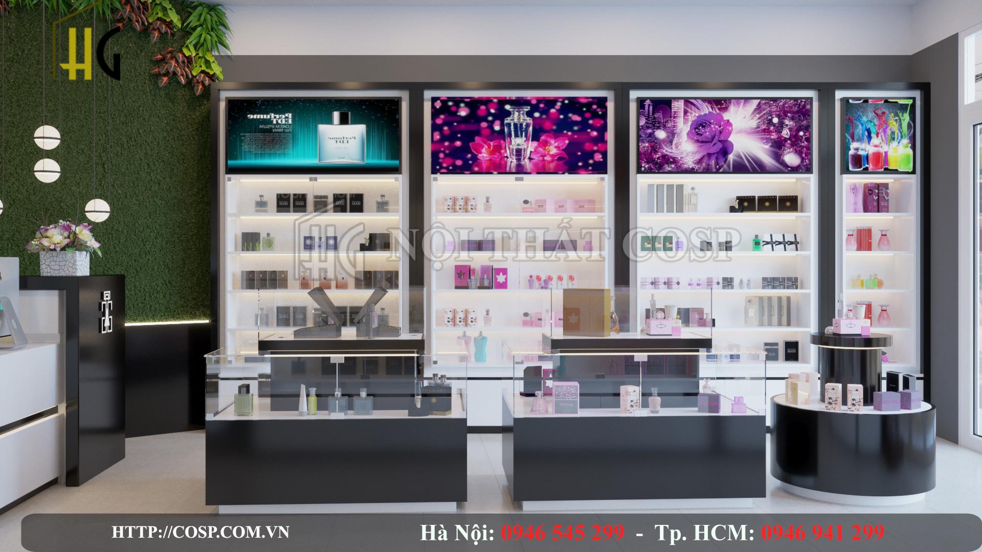 Thiết kế nội thất shop nước hoa