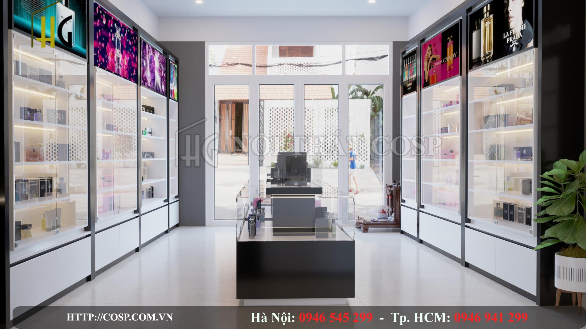 Thiết kế nội thất shop nước hoa- Gia Lâm