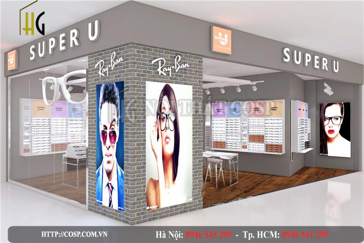thiết kế shop mắt kính chị Thủy tại Vũng Tàu