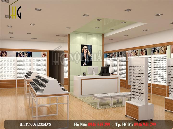 Thiết kế shop kính mắt chị Duyên- Hải Phòng