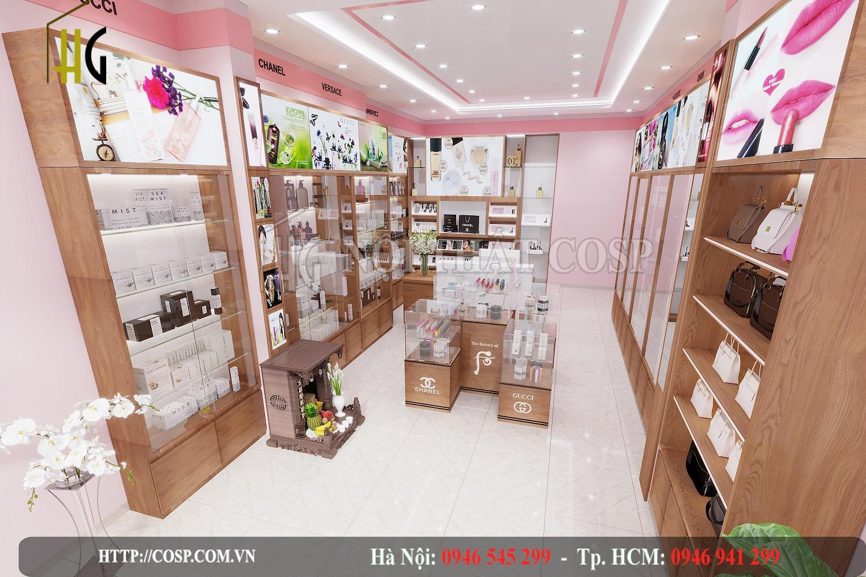 Thiết kế shop mỹ phẩm Định Thủy