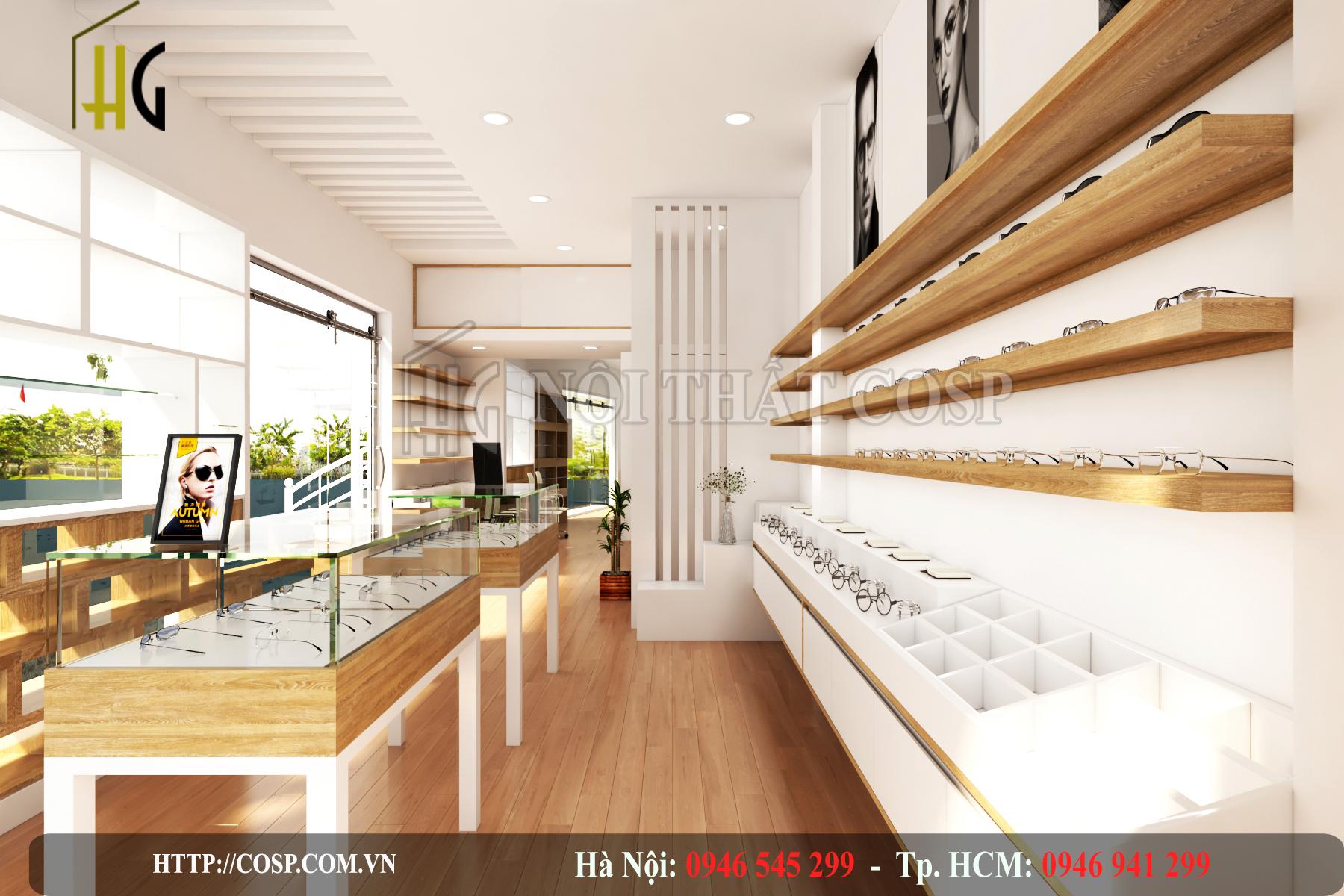 Thiết kế cửa hàng kính mắt Tâm Hòa