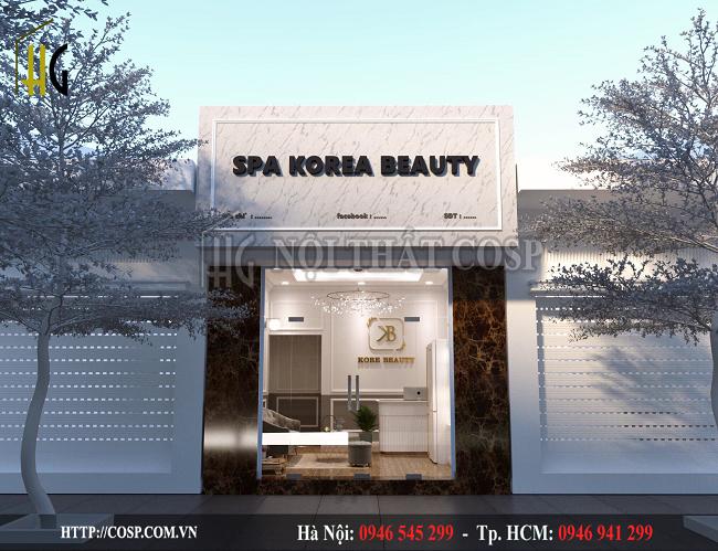 Thiết kế bảng hiệu spa chị Linh- Đông Triều