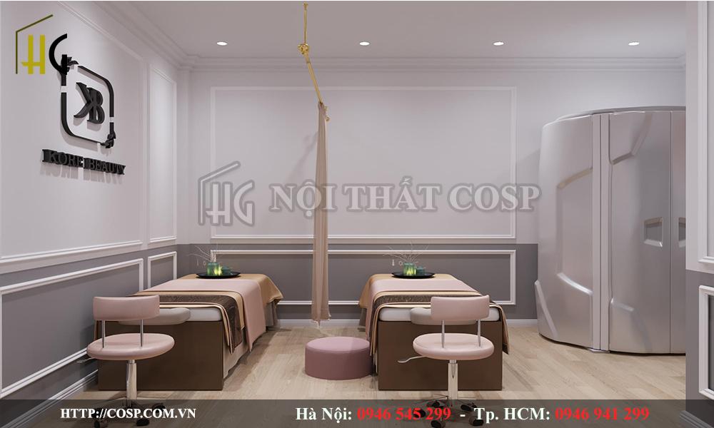 Thiết kế nội thất phòng dịch vụ spa chị Linh