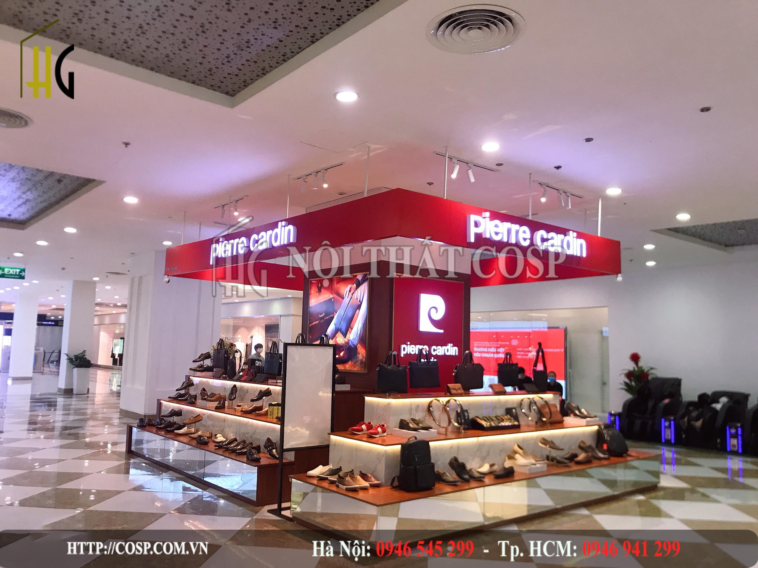 Thiết kế shop thời trang giầy dép Pierre Cardin – Time City