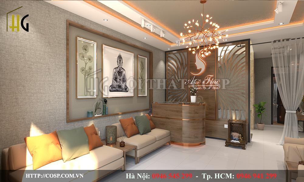 Thiết kế phòng khách spa tại Bình DƯơng