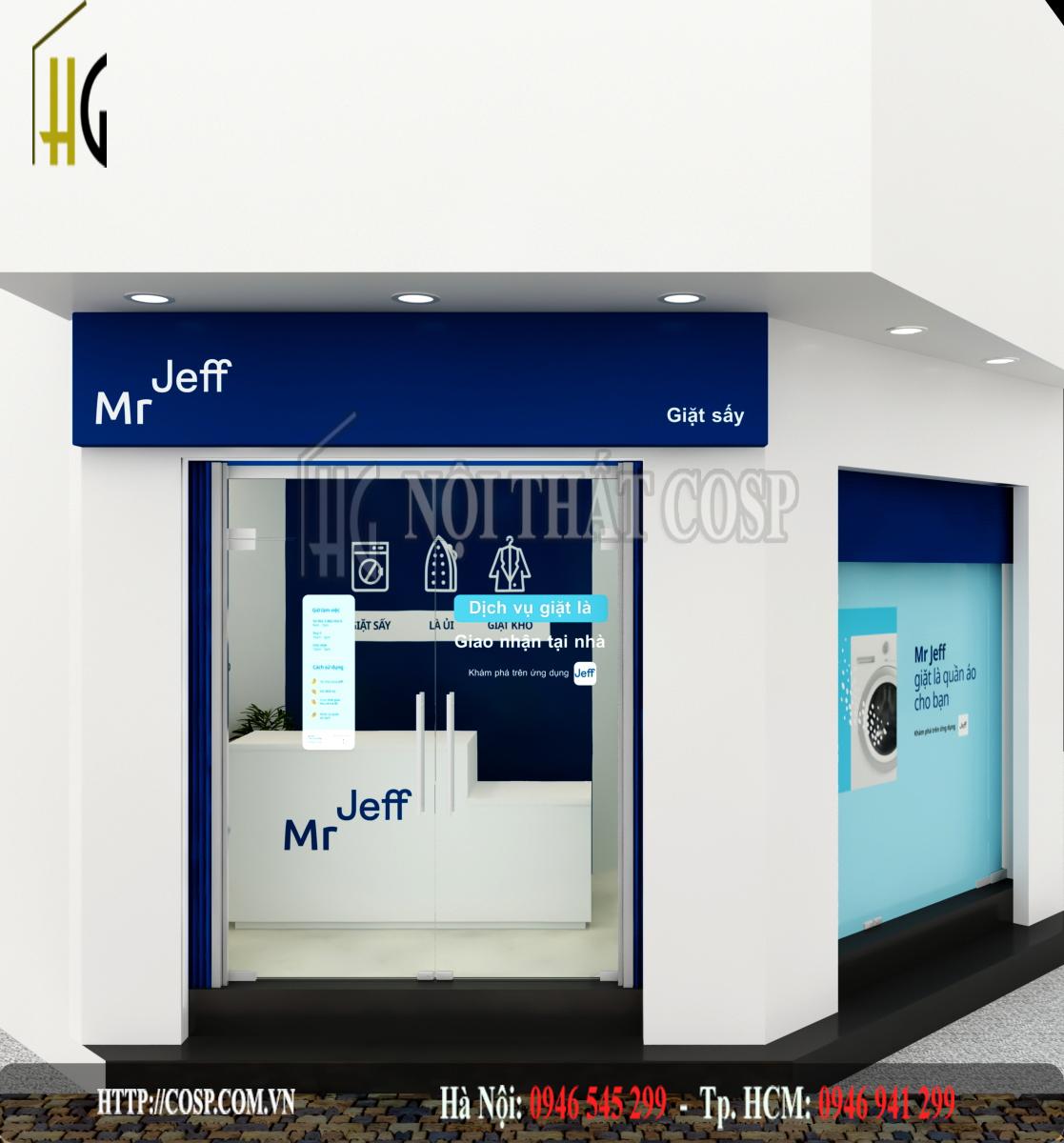 Thiết kế shop giặt ủi Vương Quyền