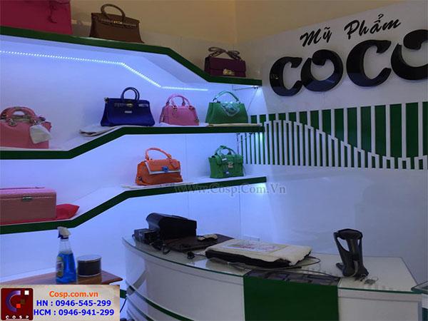 Thi công shop mỹ phẩm COCO