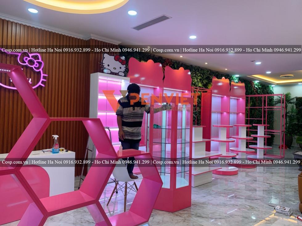 Thi công shop trẻ em Hello Kitty tại Vũng Tàu