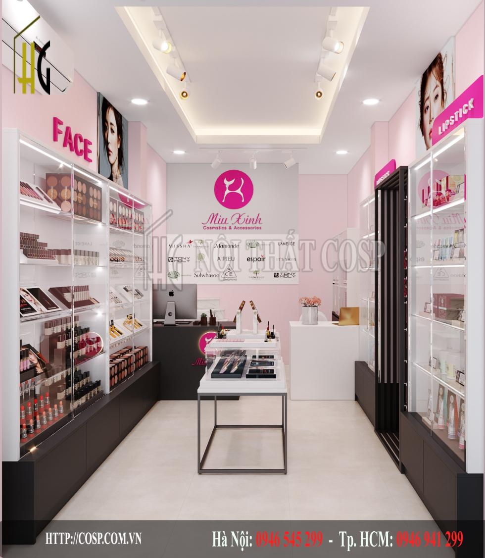 Thiết kế shop mỹ phẩm Miu xinh Shop