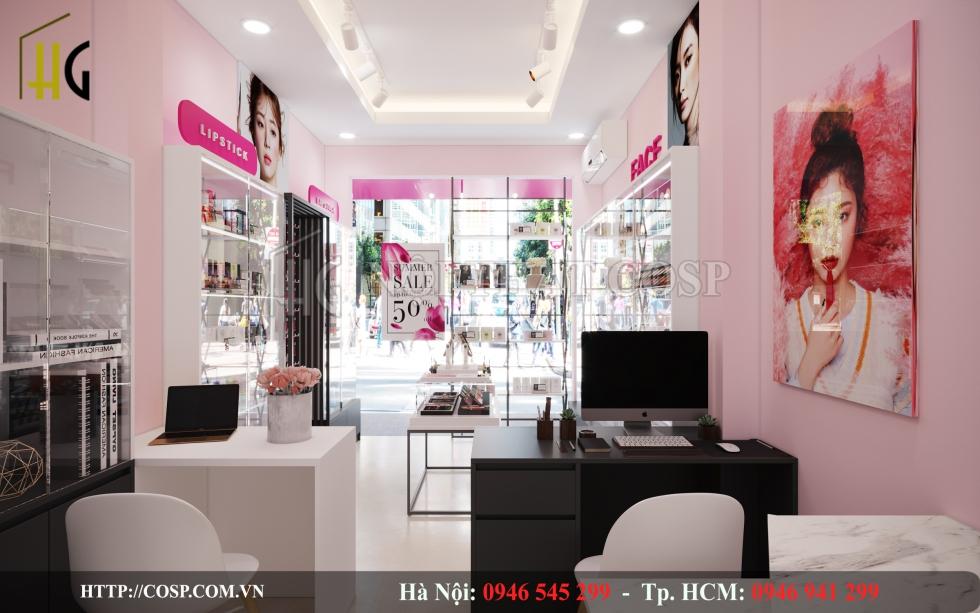 Thiết kế shop mỹ phẩm đẹp Penviet