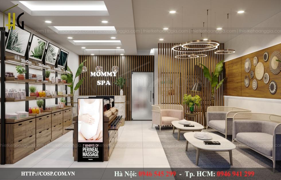 Thiết kế nội thất spa chú trọng màu sắc và ánh sáng