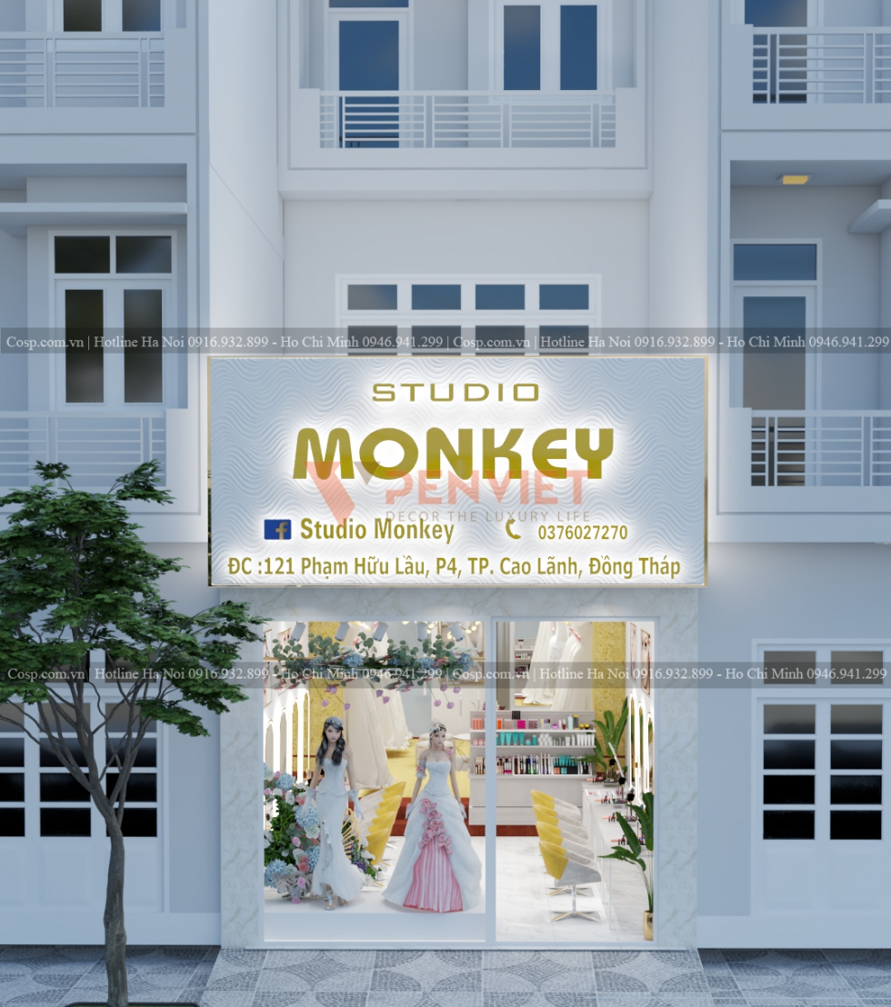 Thiết kế nội thất shop chú ý mặt tiền