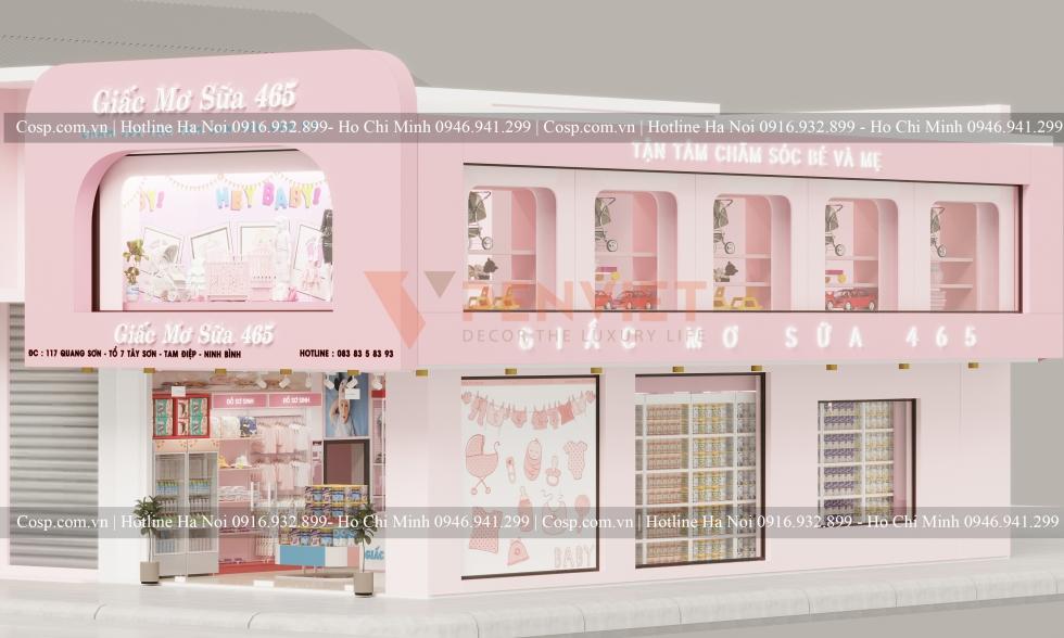 Thiết kế shop mẹ và bé Giấc Mơ Sữa 465
