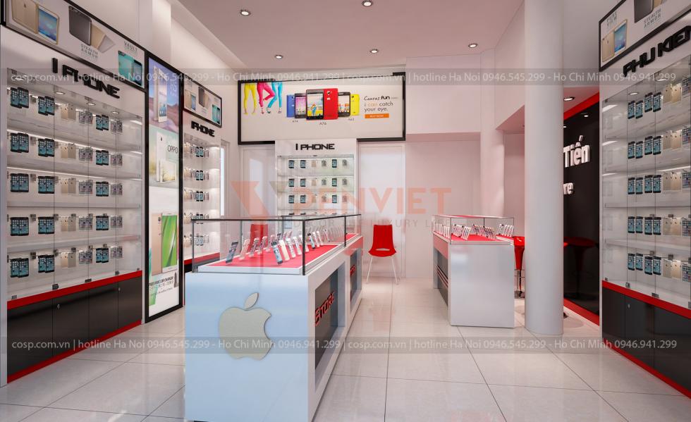 Mẫu cửa hàng điện thoại đẹp ảnh Tiến 25m2