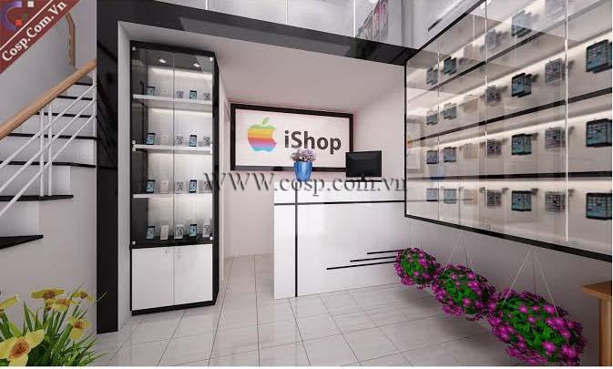 Thiết kế cửa hàng điện thoại nhỏ đẹp 10m2