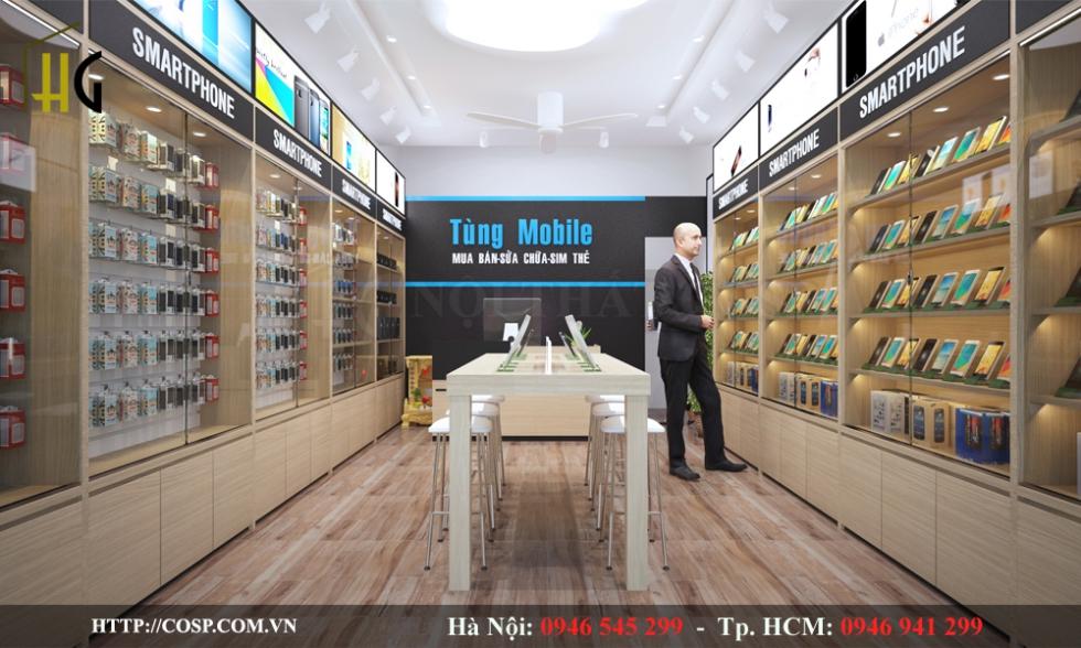 Thiết kế shop điện thoại Tùng Mobile