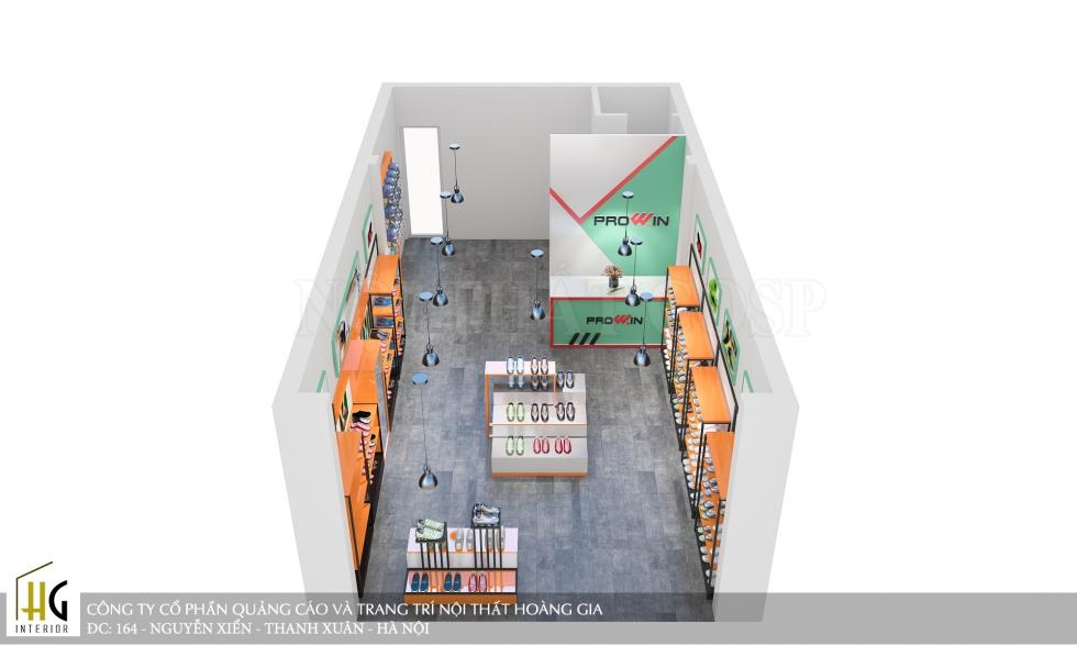 Bản vẽ thiết kế shop thể thao chũ Vũ