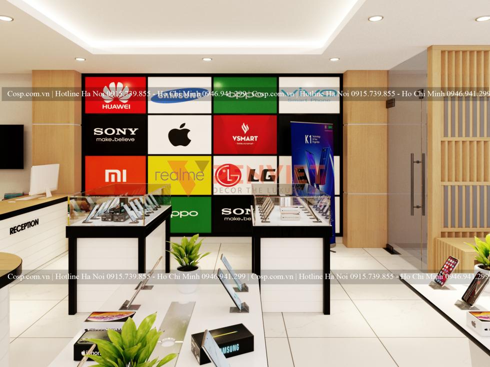 Thiết kế shop mobile Khánh Hưng